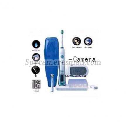 Intelligent 3D Electric Toothbrush Hidden Bathroom Spy Camera HD DVR 16GB 1280X720