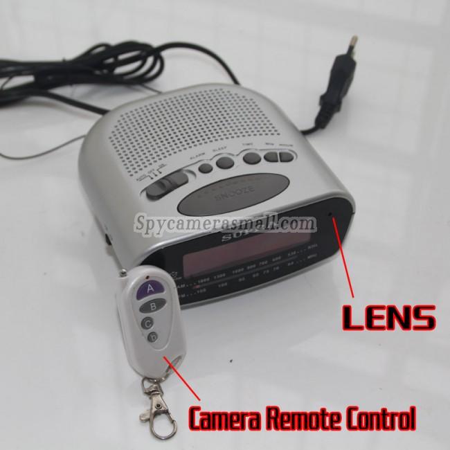 Spionkamera klocka radio 16G DVR Full HD 1080P Rörelseaktiverad bästa dolda kameran