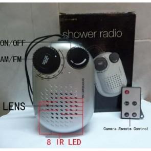 mini spy cameras for bathrooms - Remote Control 8 LED HD Night Vision Bathroom Radio Spy Camera DVR Motion Activated 16GB 1280x720P