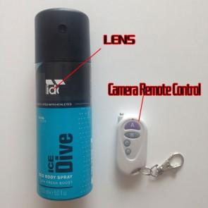 box camera Spray Bottle in Bathroom 16G Full HD 720P DVR with motion sensor best  Bathroom Spy Camera